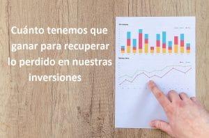 ¿Cuánto tenemos que ganar para recuperar lo perdido en nuestras inversiones?